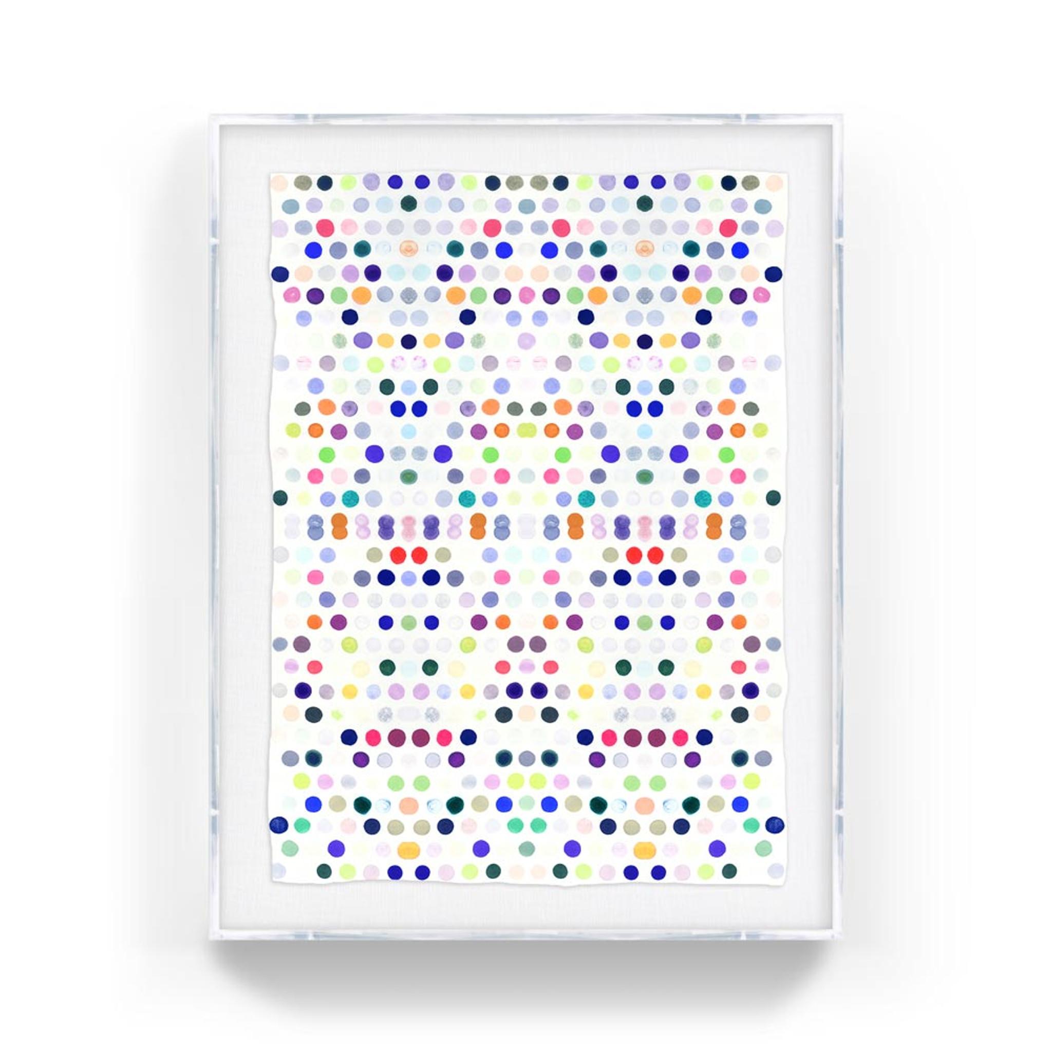 dots_5_#2_lucite kristi kohut modern fine art print lucite acrylic shadow box clear