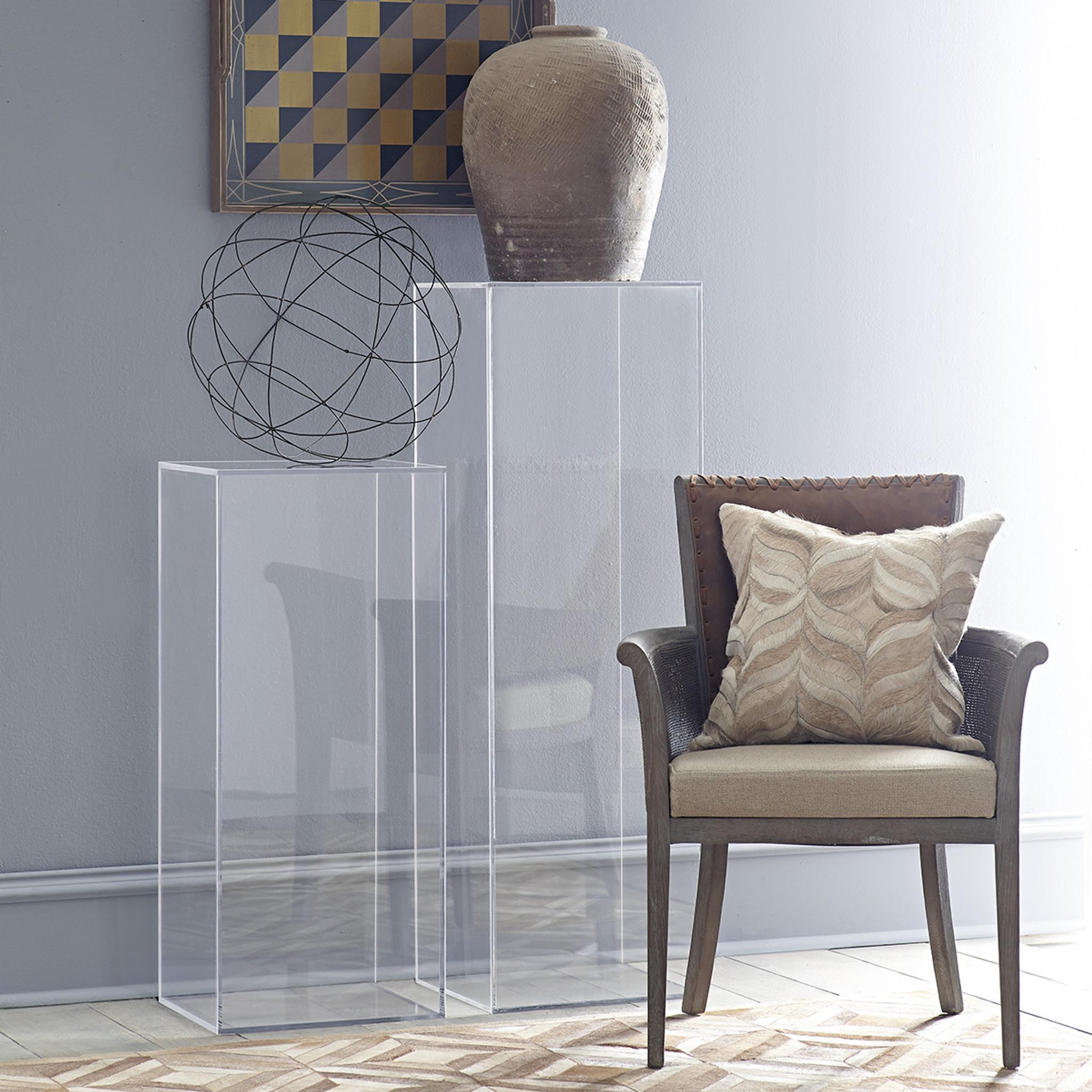 custom clear lucite acrylic tall modern plexiglass art sculpture pedestal stand