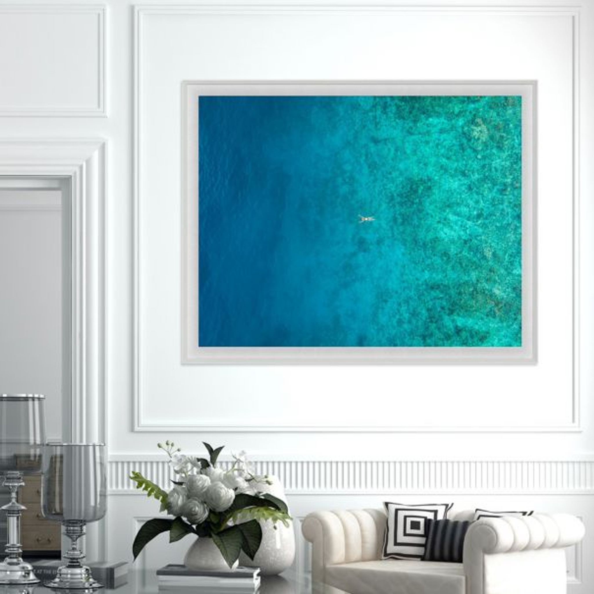 Natural Curiosities Folden Float ocean no 9 Fine Photography Wall Art with Acrylic Frame