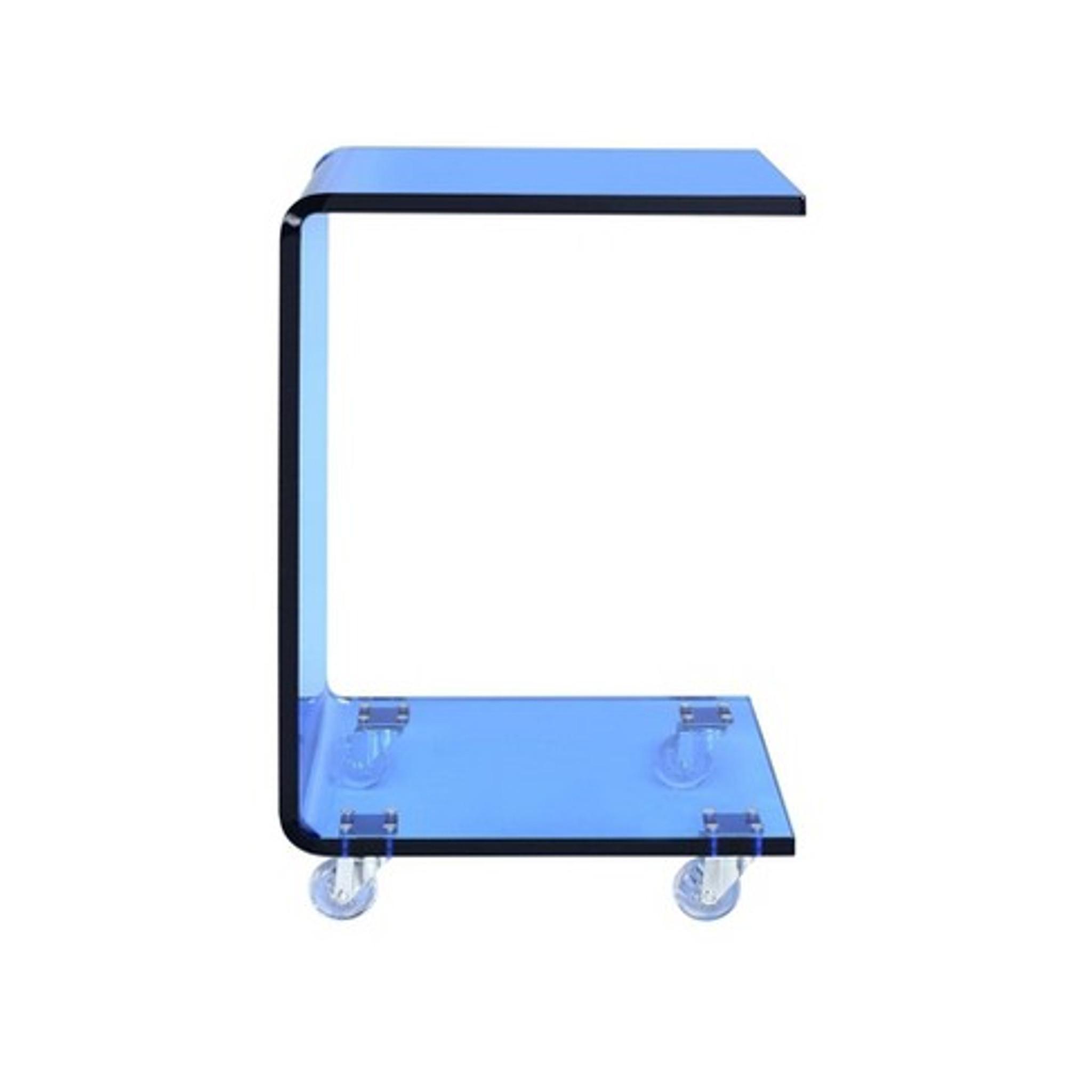 Picket House Furnishings Peek Acrylic Snack Table in Blue