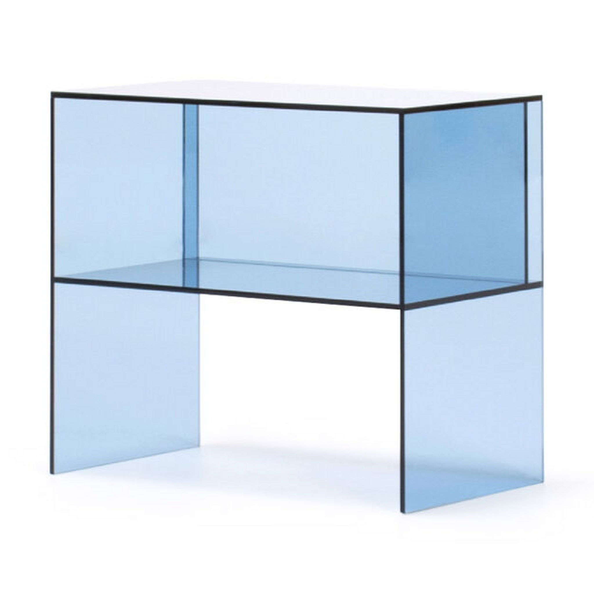 momo Two-Way Side Table blue acrylic lucite modern accent