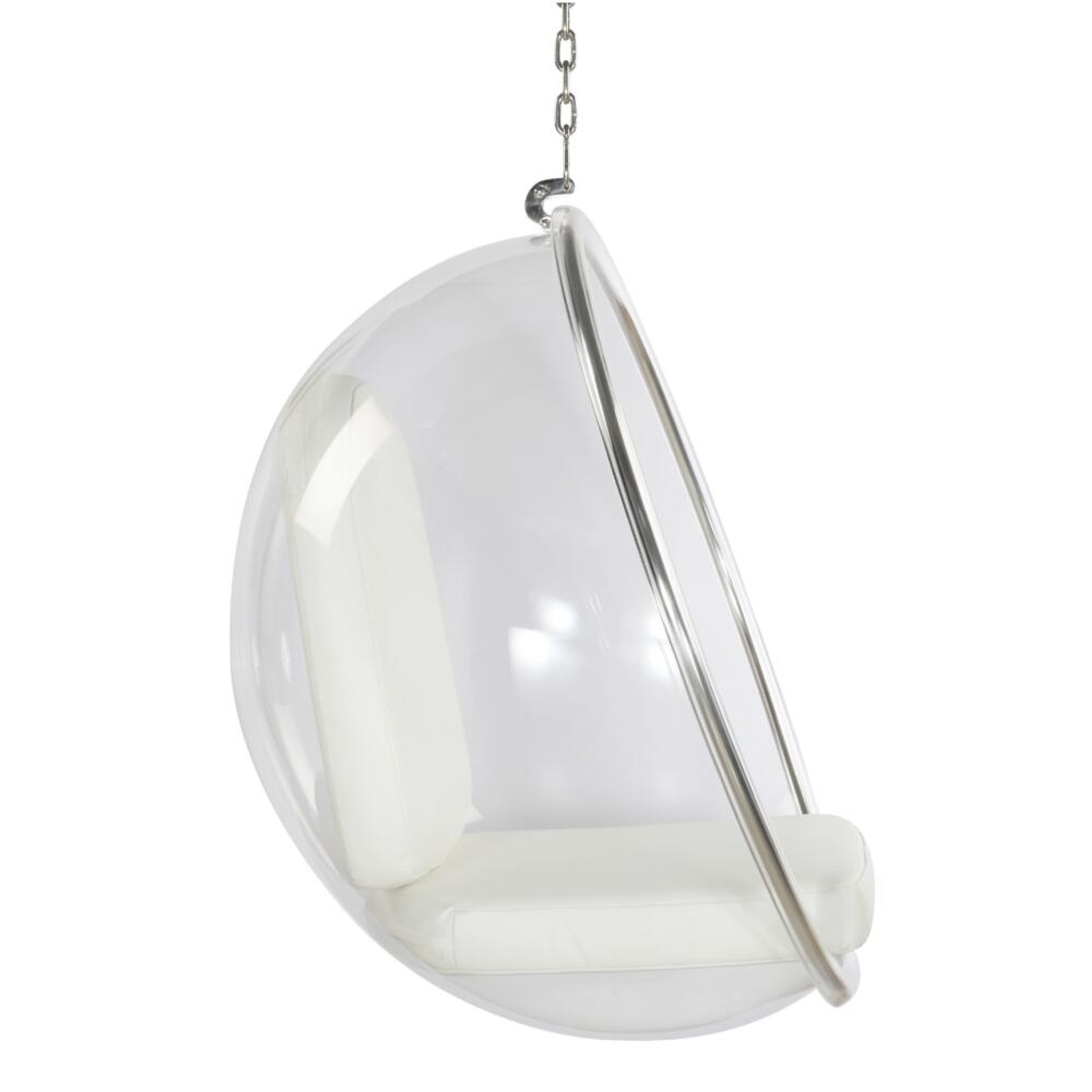 fine mod imports ball acrylic accent bubble standing chrome chair white cushion set included.jpg