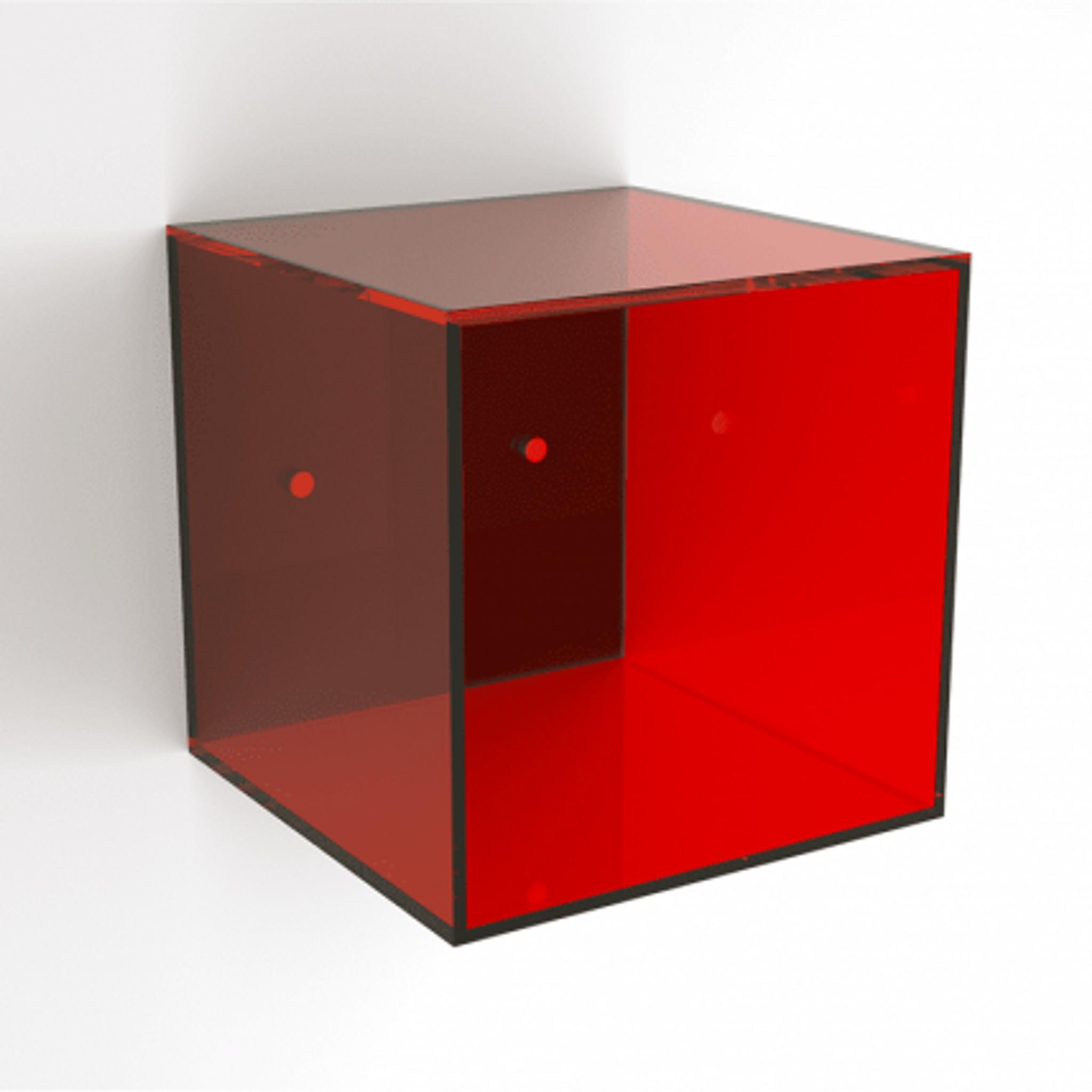 custom acrylic lucite color bright neon wall cube box hanging storage shelf kids