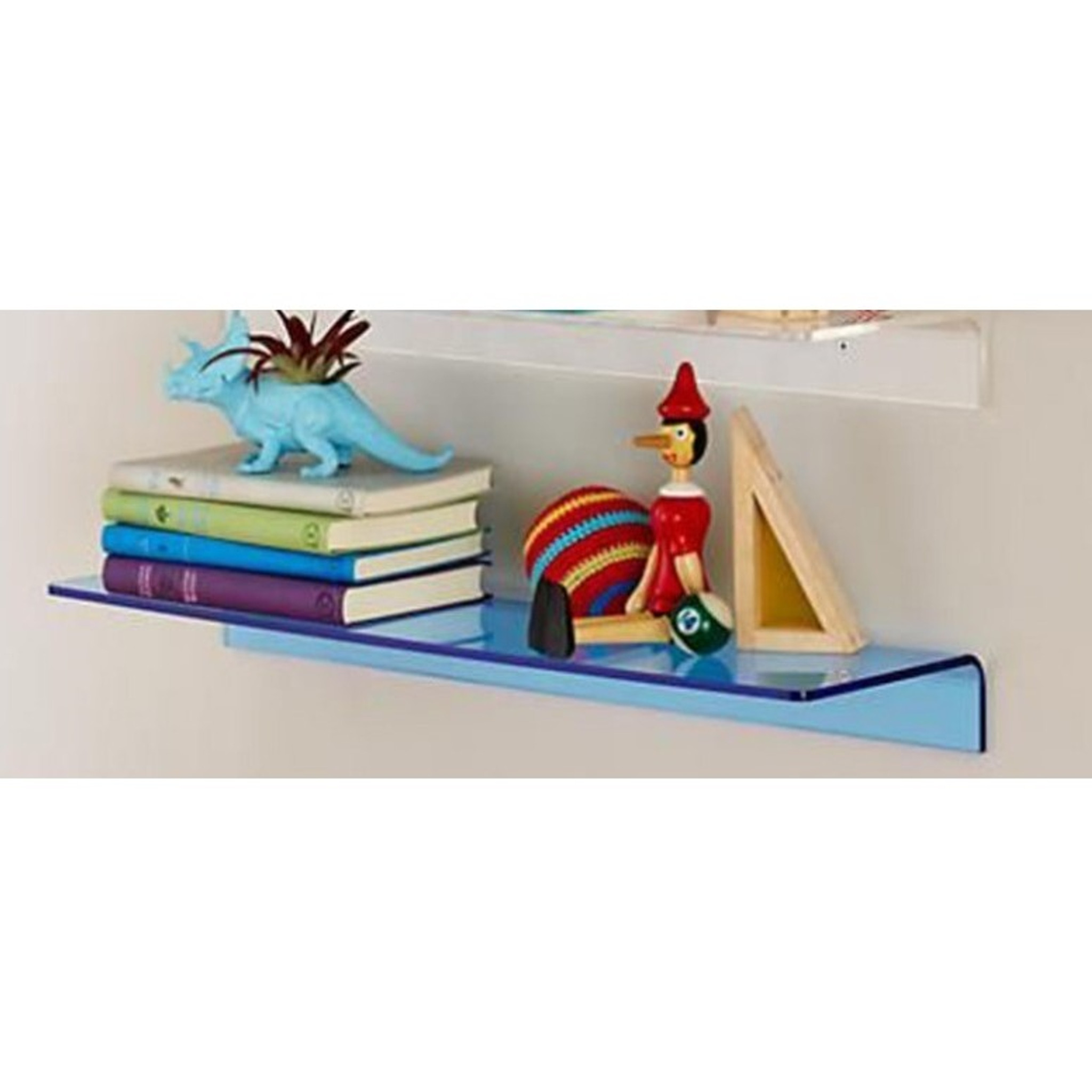 modern neon color lucite bright transparent lucite acrylic wall shelf