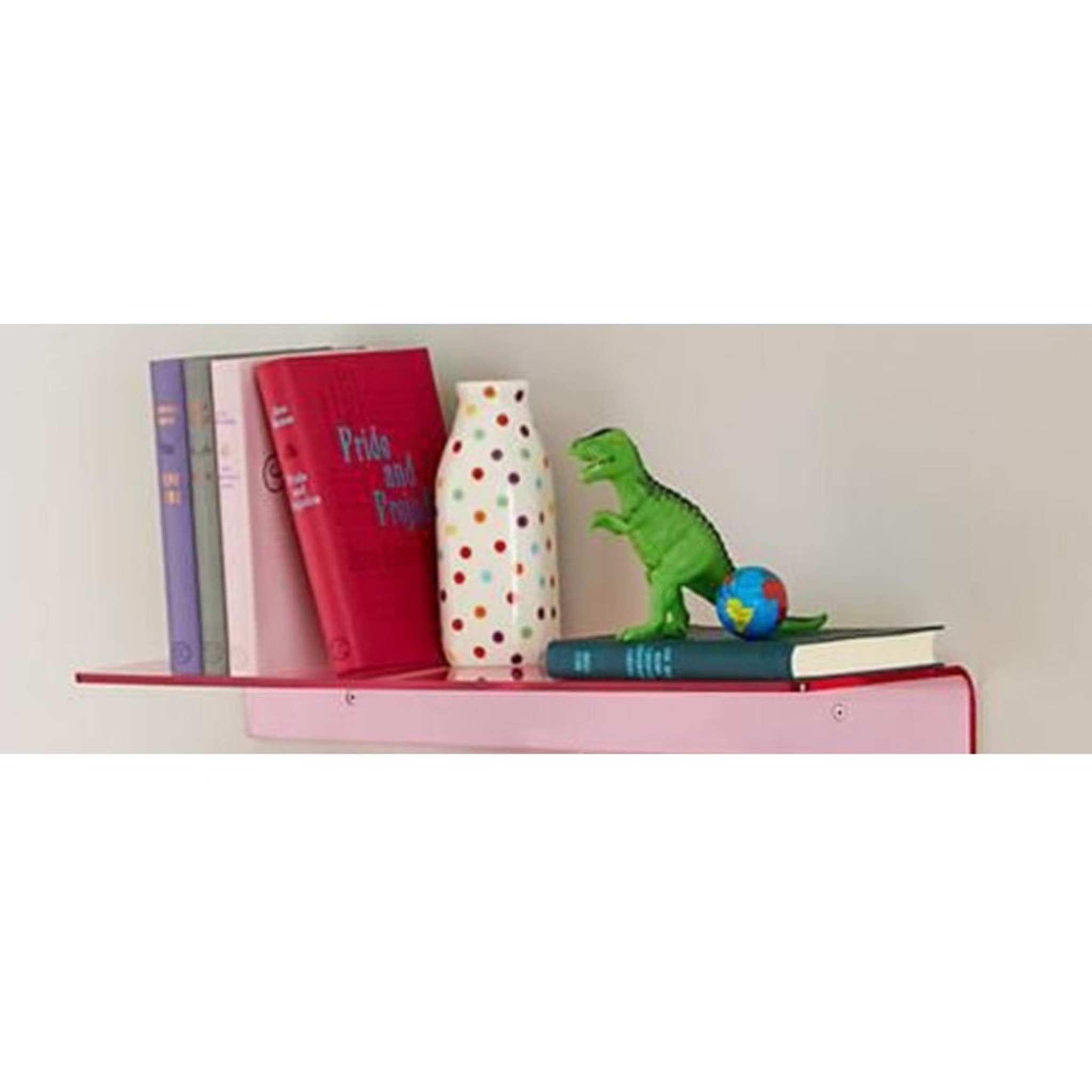 Bright Color Lucite Wall Shelf,   Color Options