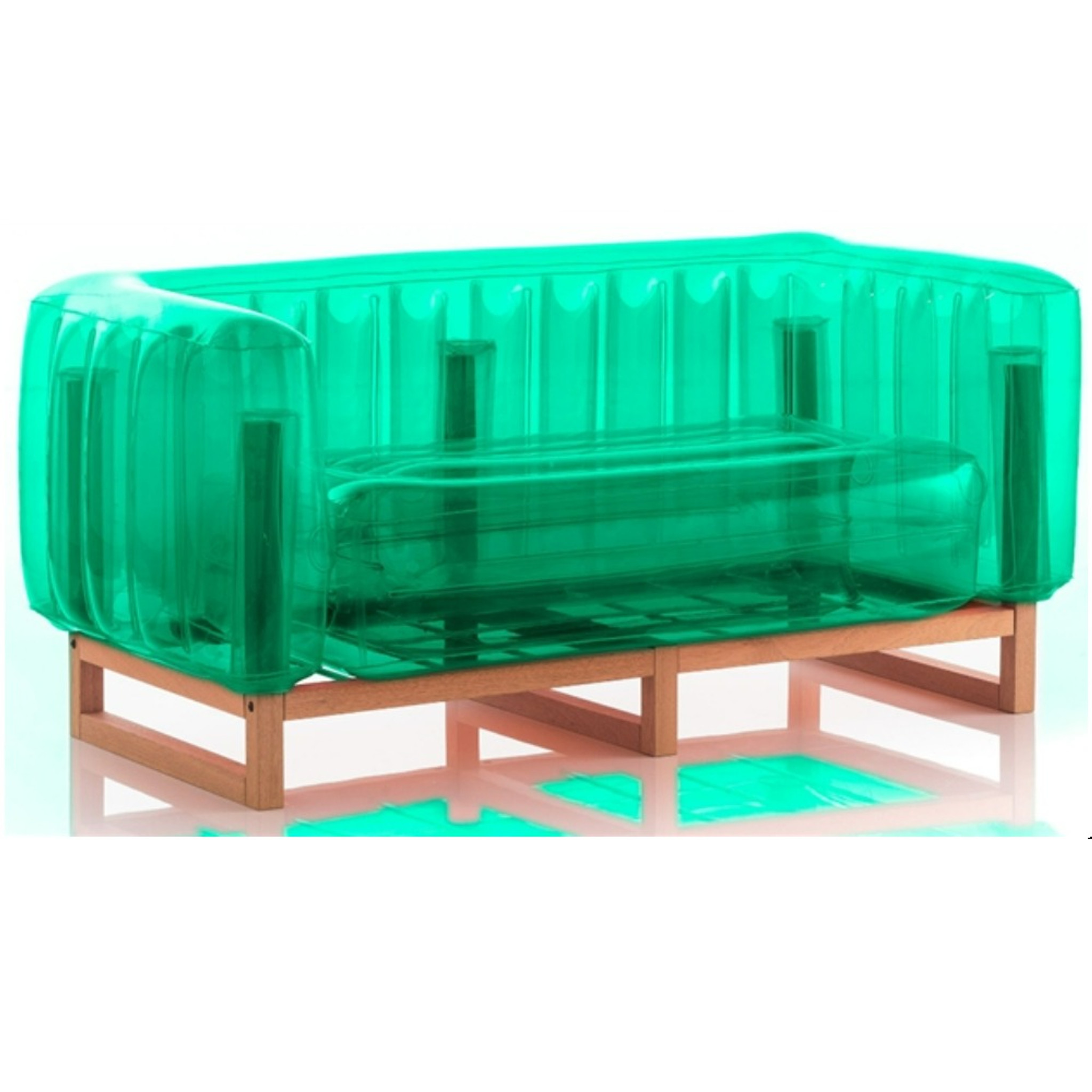 mojow yomi wood frame indoor outdoor blow up inflatable bright color kids furniture