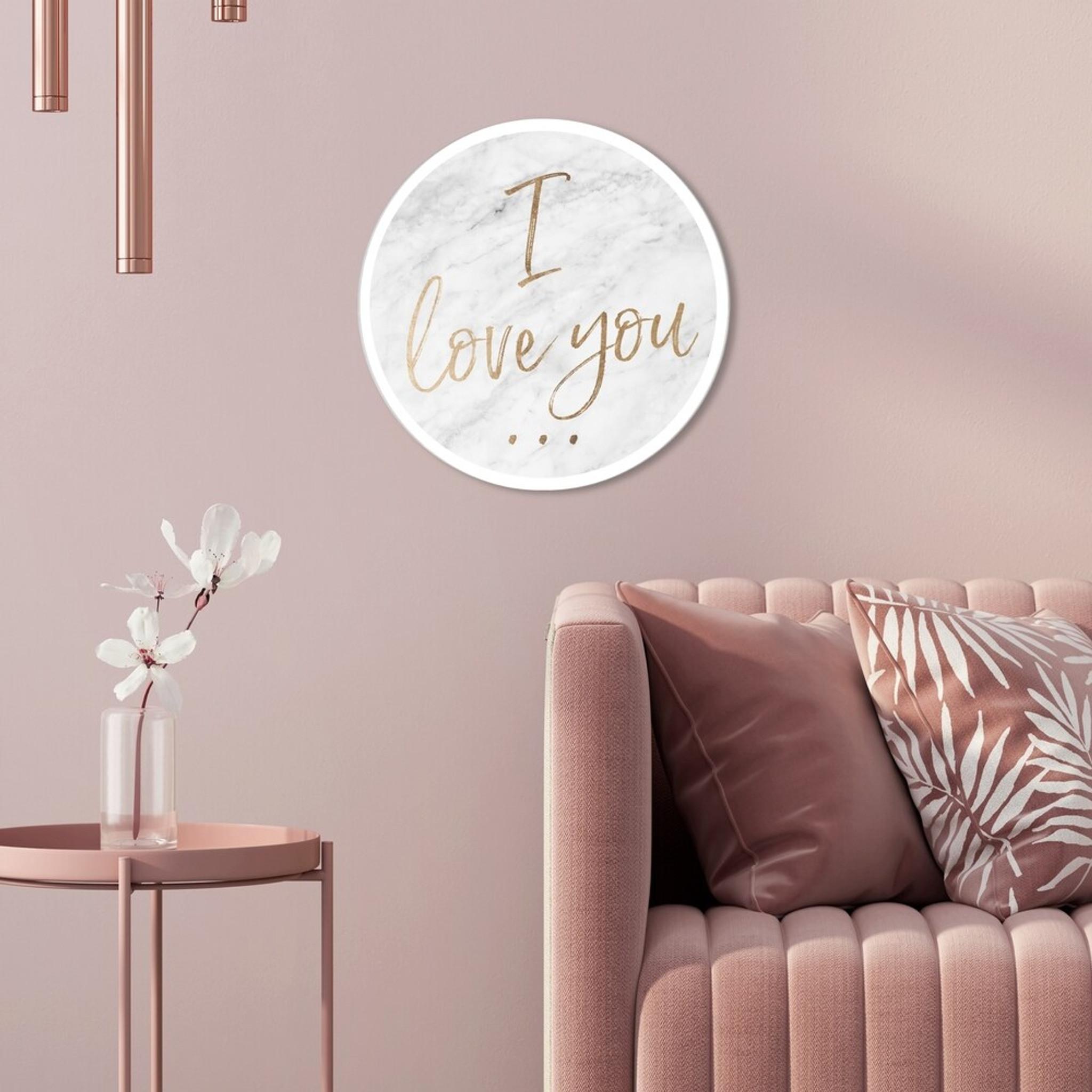 I Love You Round Acrylic Wall Art,
