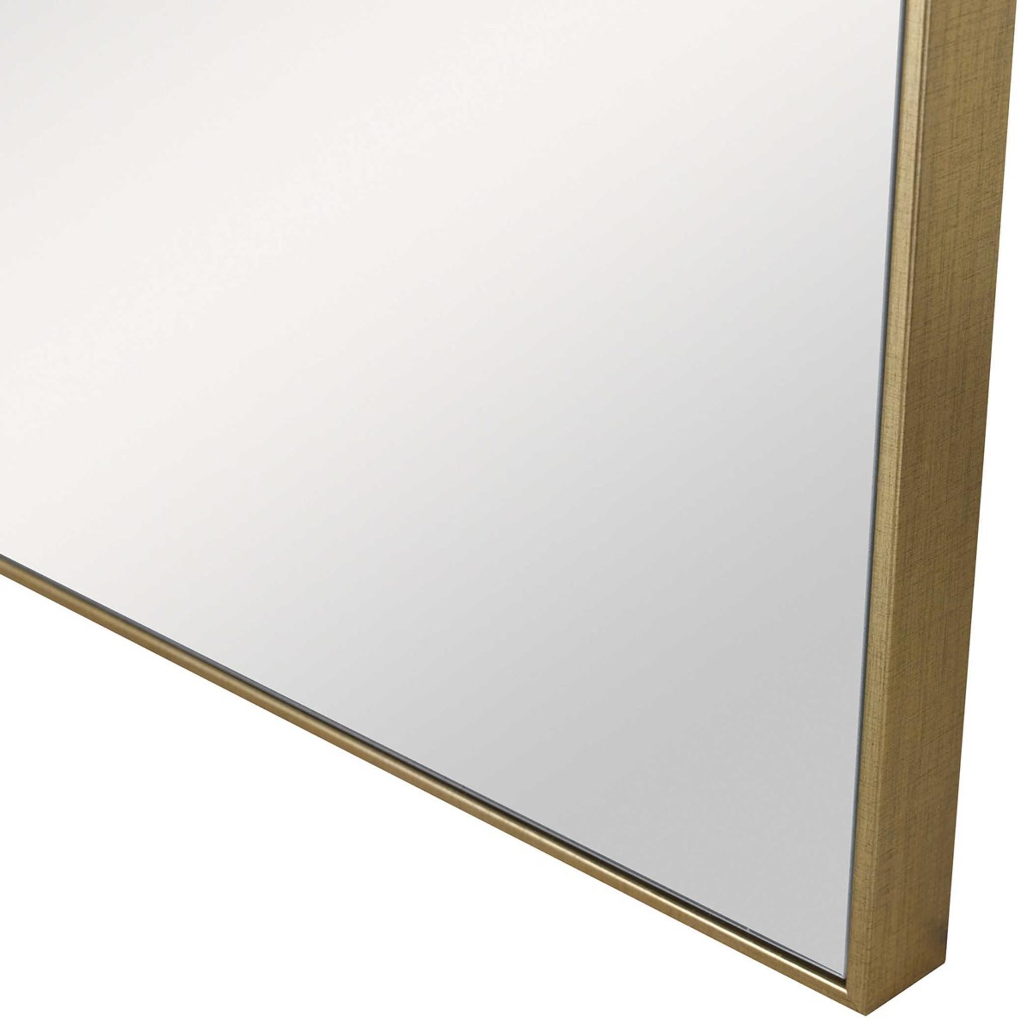 uttermost alexo gold modern square simple metal edge frame wall mirror