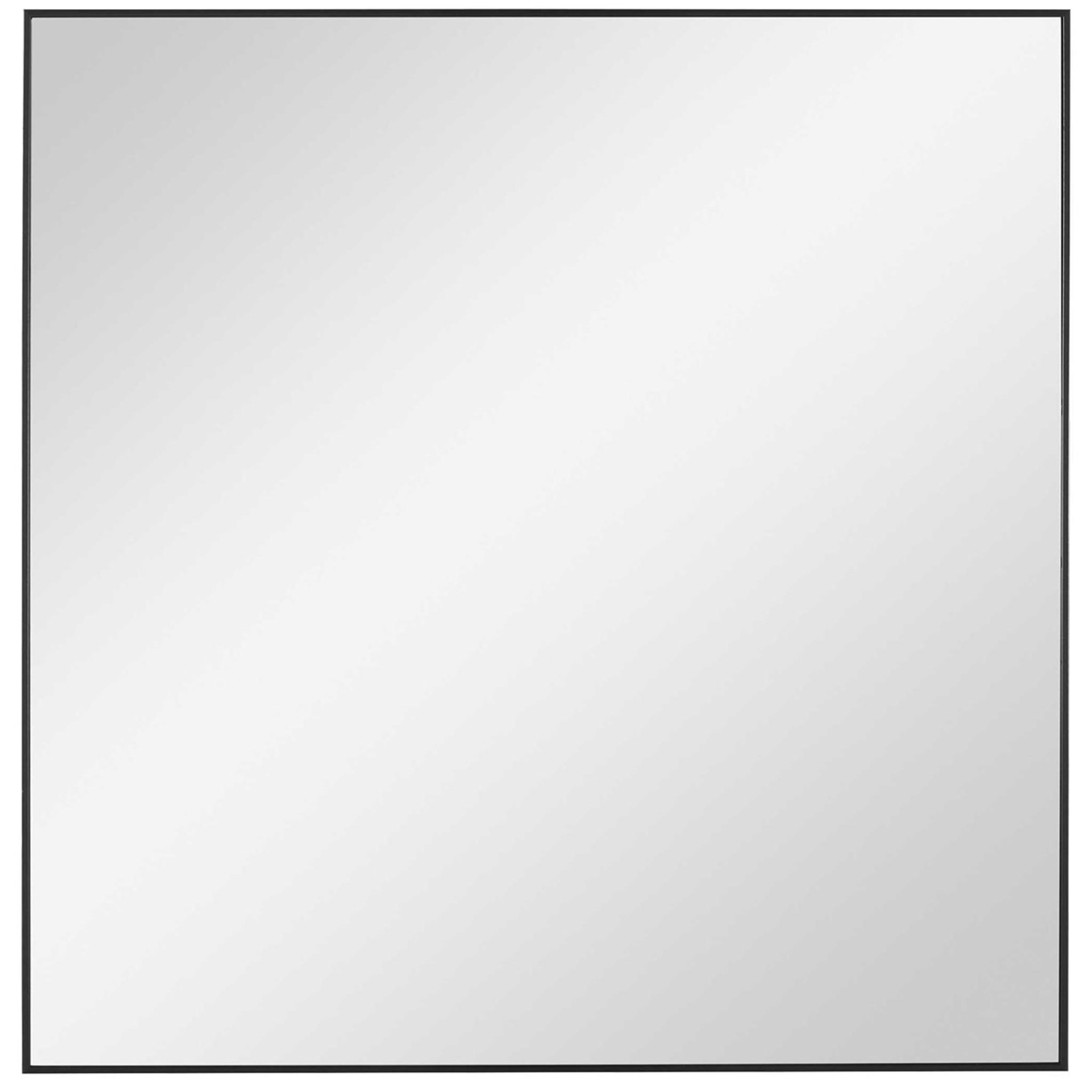 uttermost alexo black square modern simple edge frame wall mirror