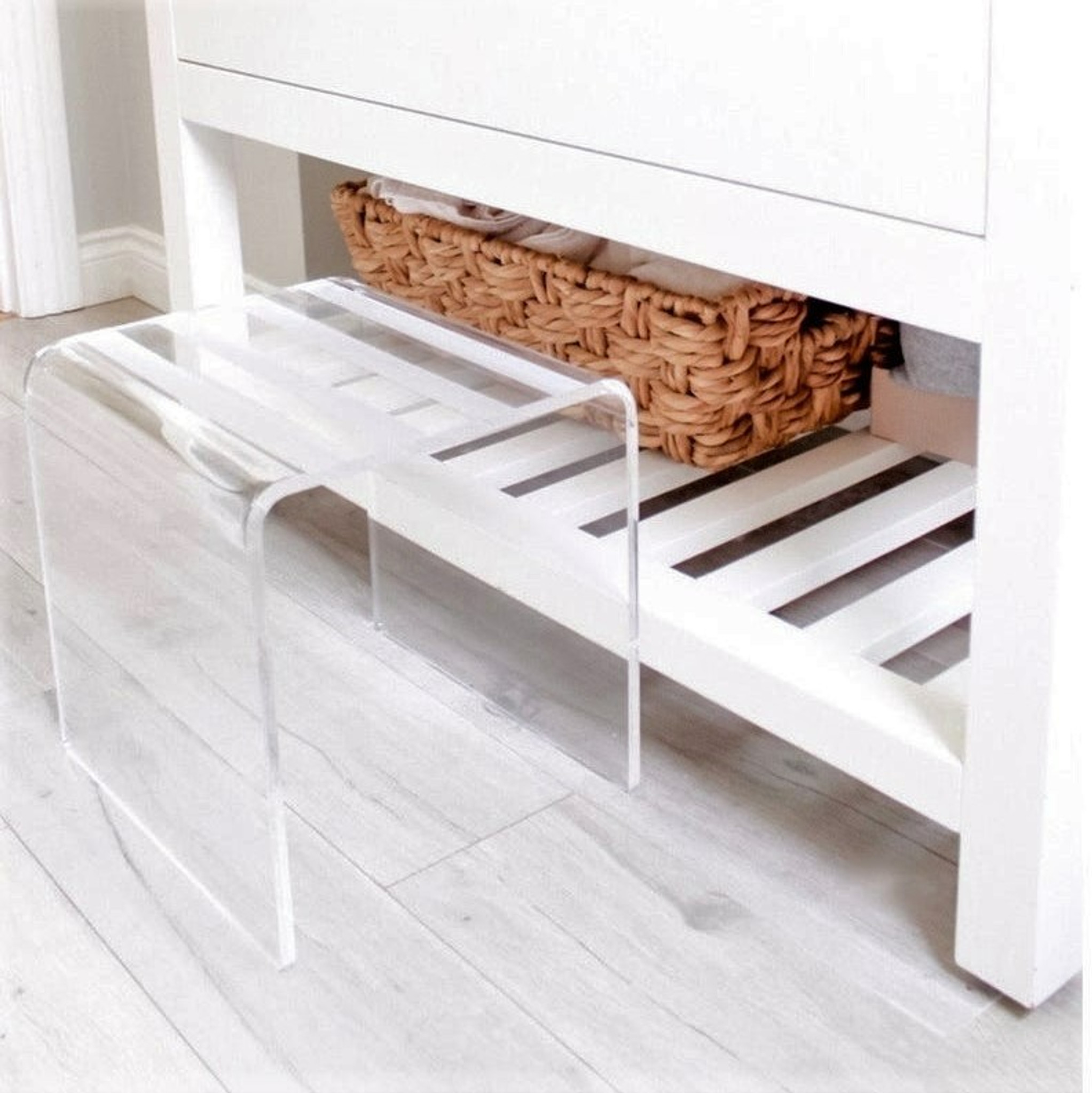 Clear Lucite Kid's Step Stool & Seat