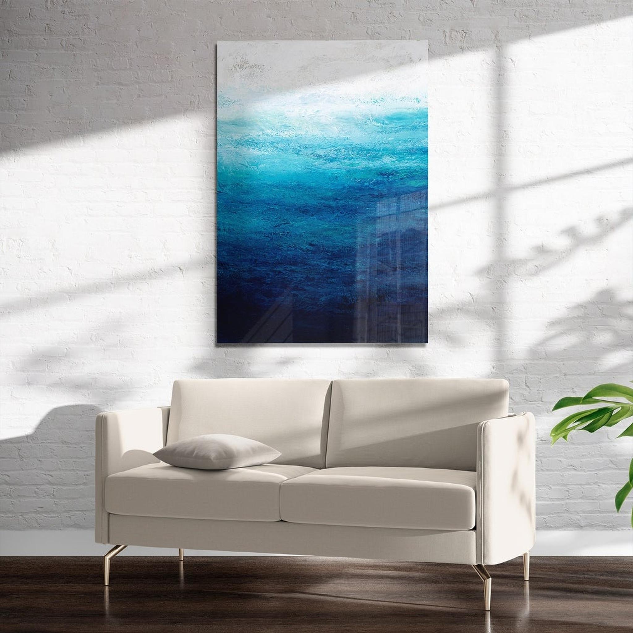 Deep Blue Water on Acrylic Wall Art (horizon art