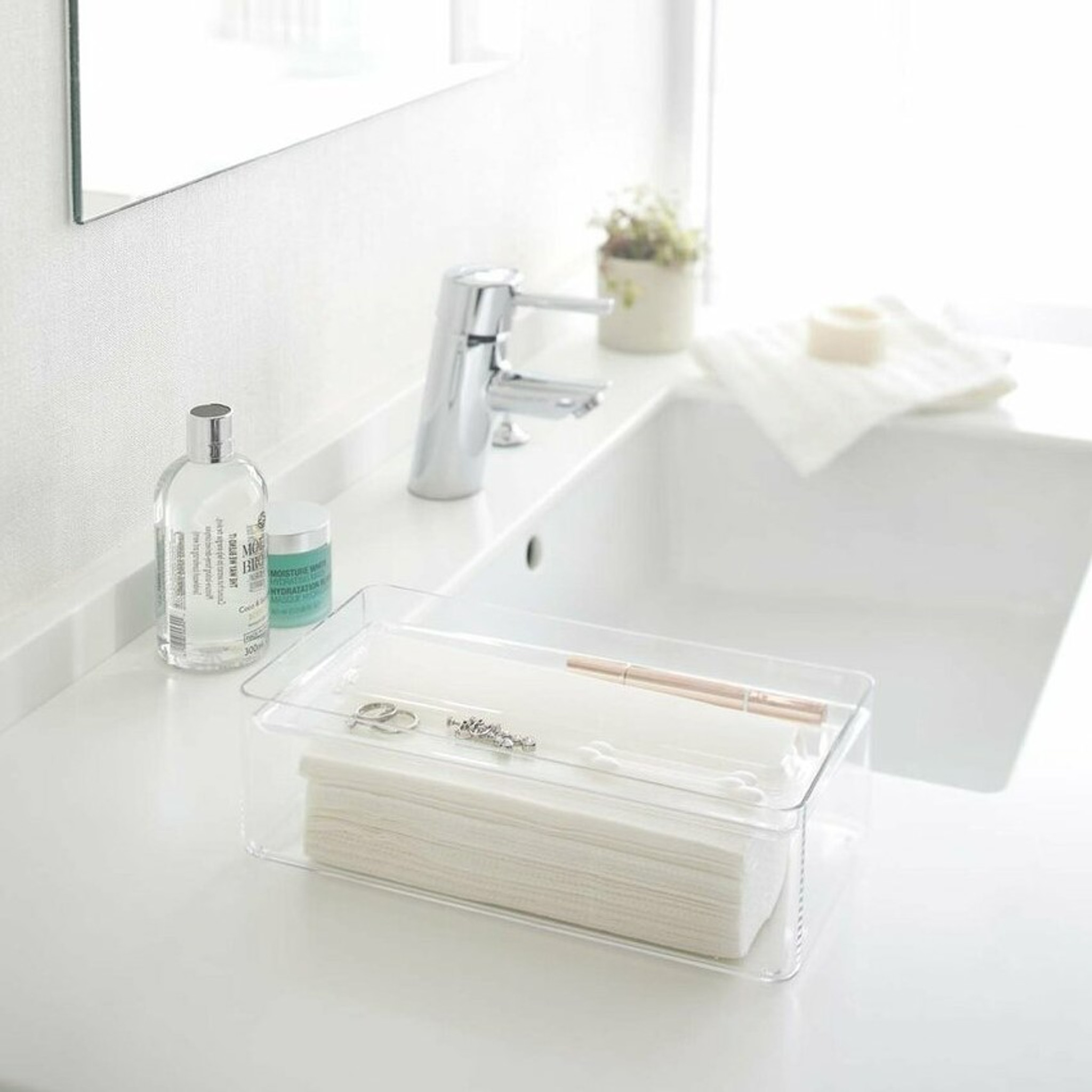 Modern Lucite Tissue Kleenex Holder, Color Options grey clear acrylic