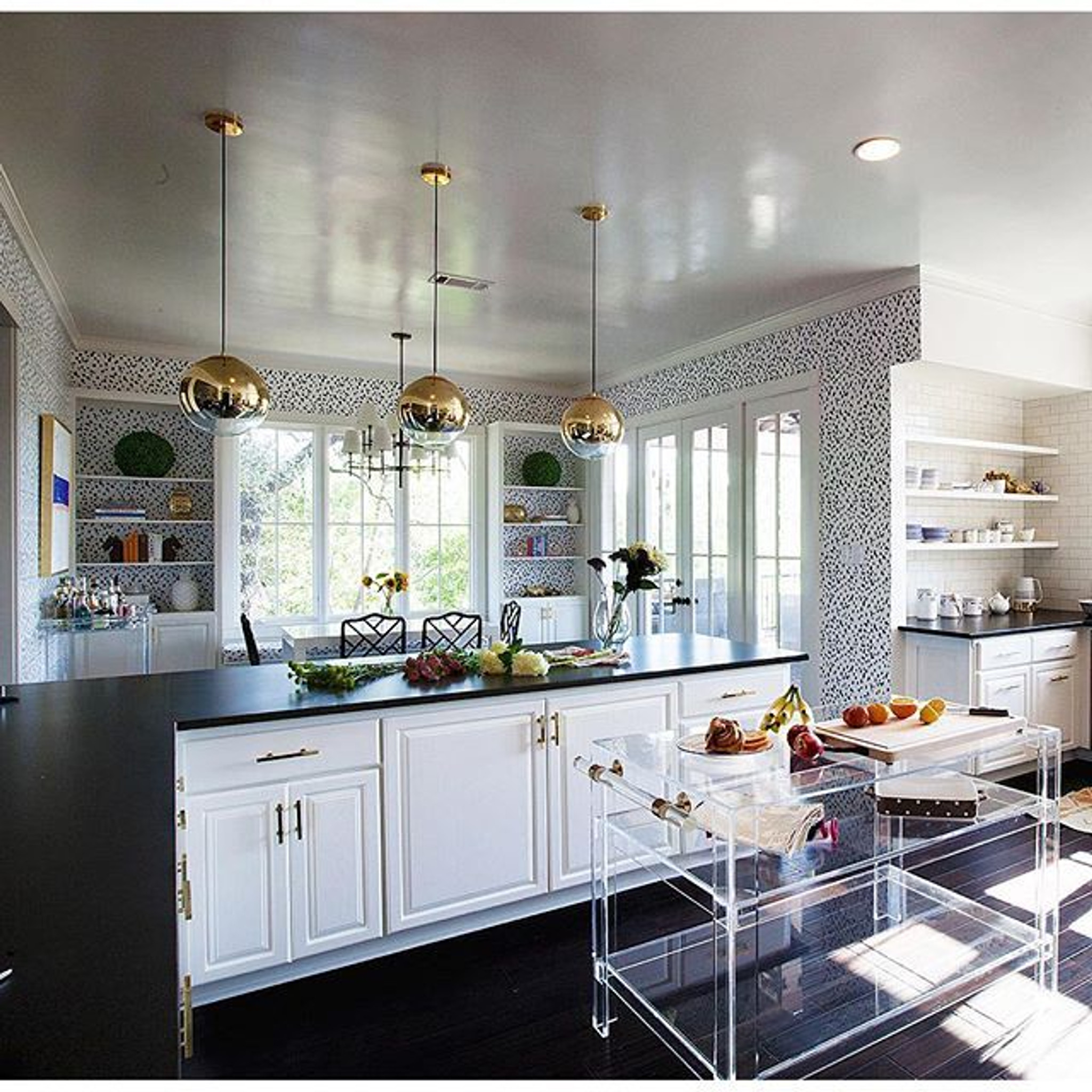 Custom Lucite Kitchen Island with Lucite Handle