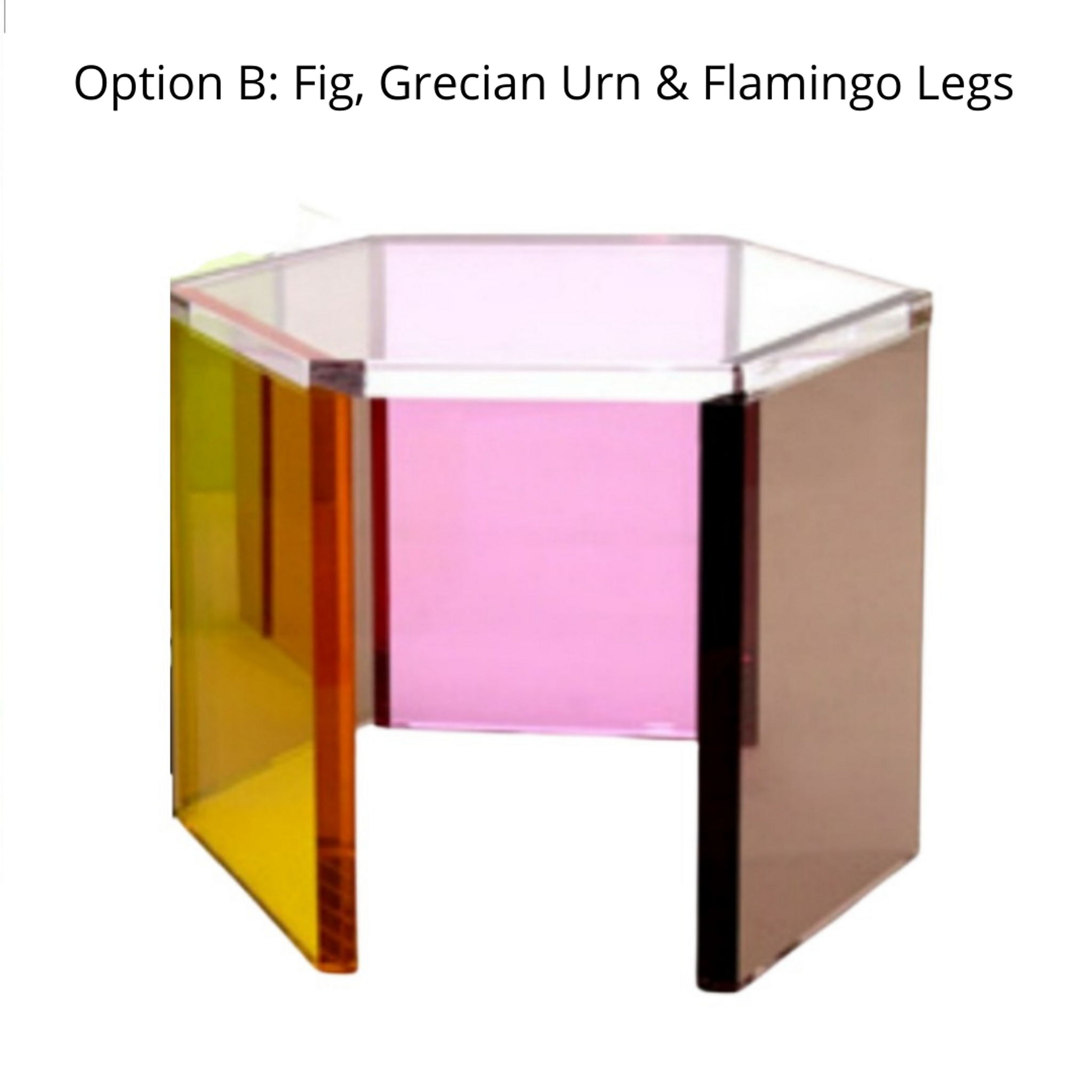Modern Multi Color Hexagonal Lucite Coffee Table
