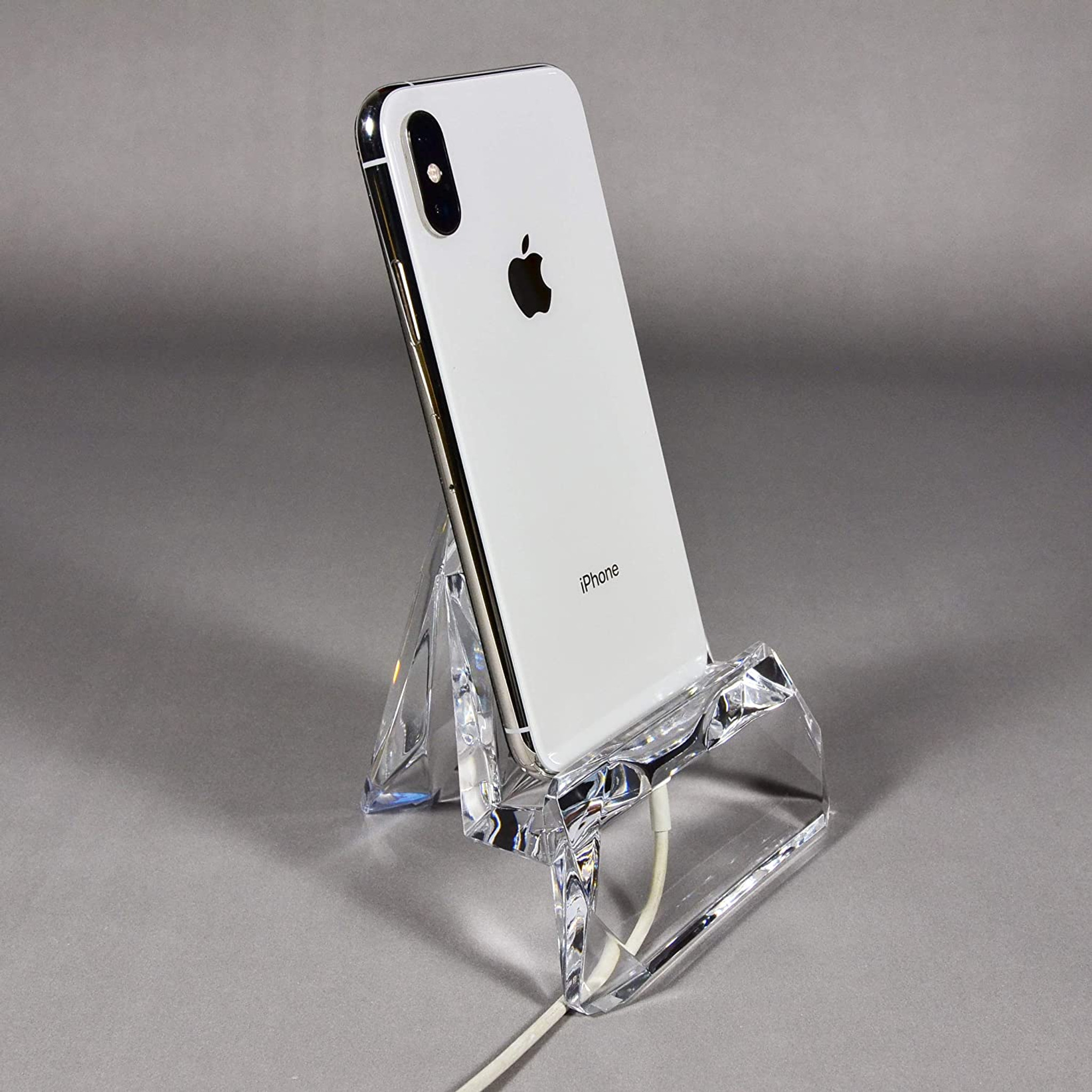 Clear Faceted Acrylic Cell Phone Stand modern desk accessory