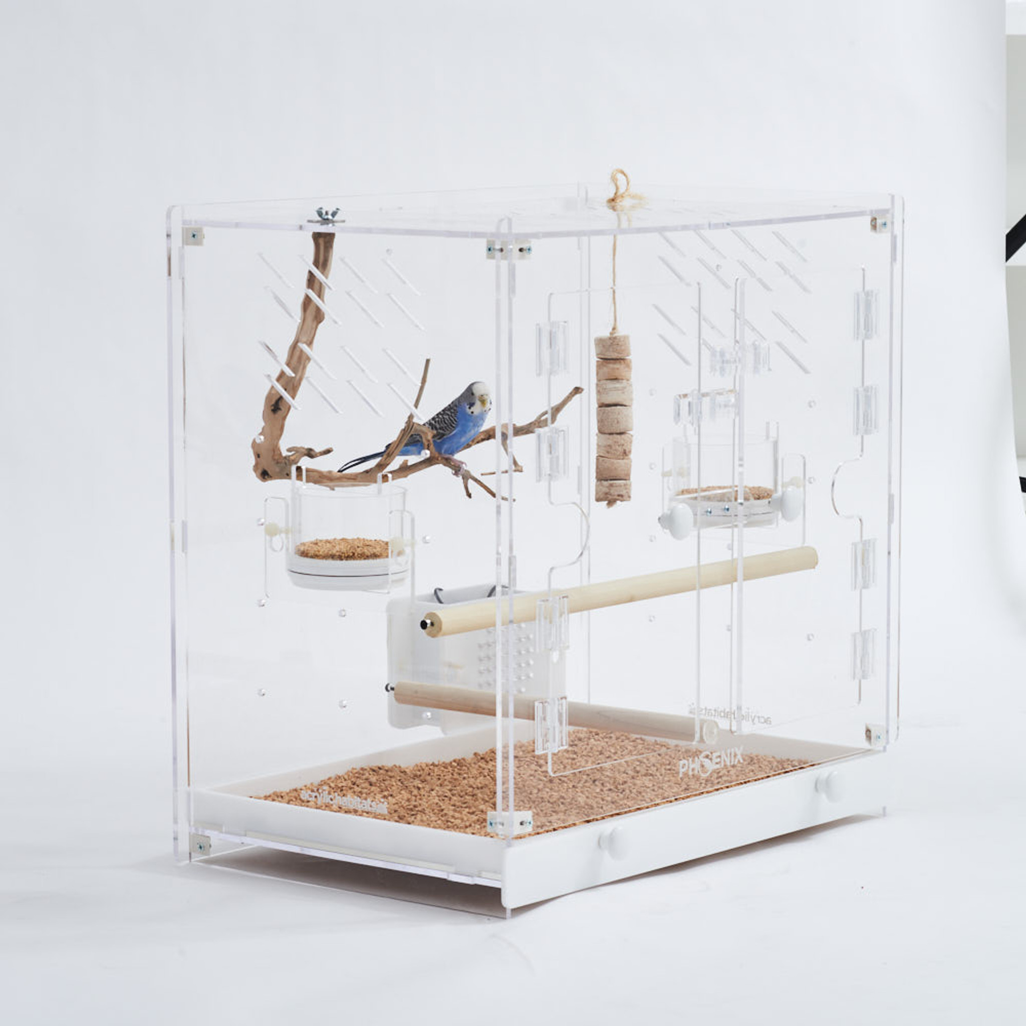 Modern Clear Acrylic lucite luxury Birdcage, Size Options