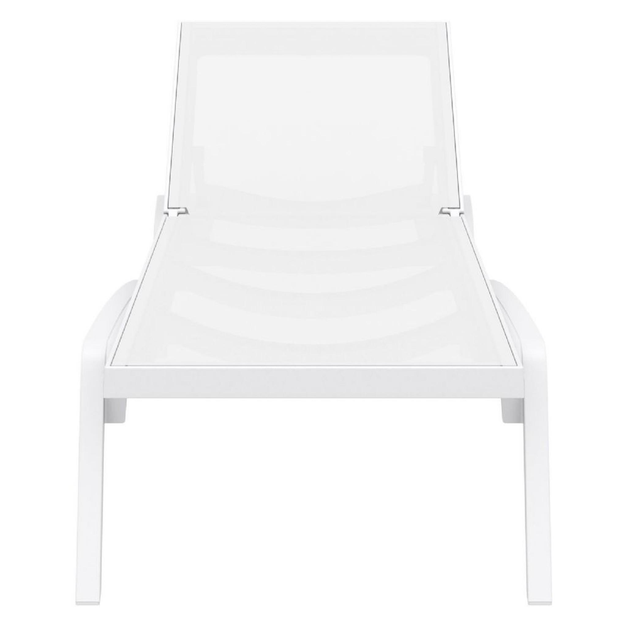 Set of 2 Modern Polypropylene Mesh Sling Chaise Lounge, Options