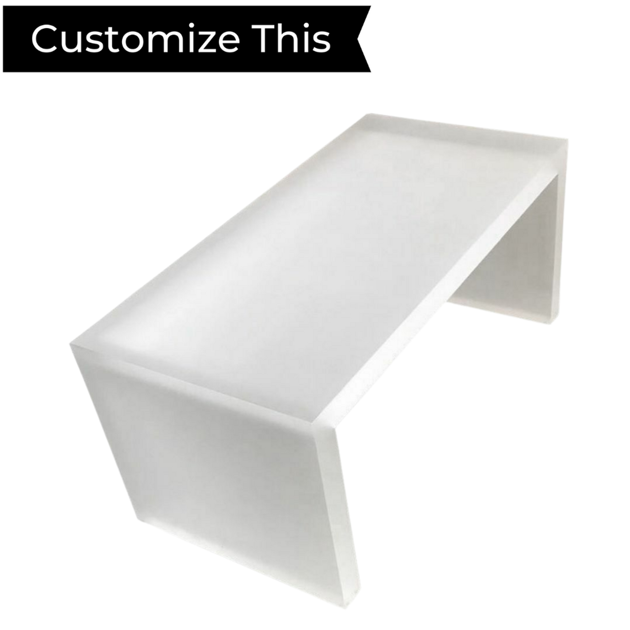 Frosted Lucite Frosted Lucite Waterfall Table CollectionWaterfall Table Collection