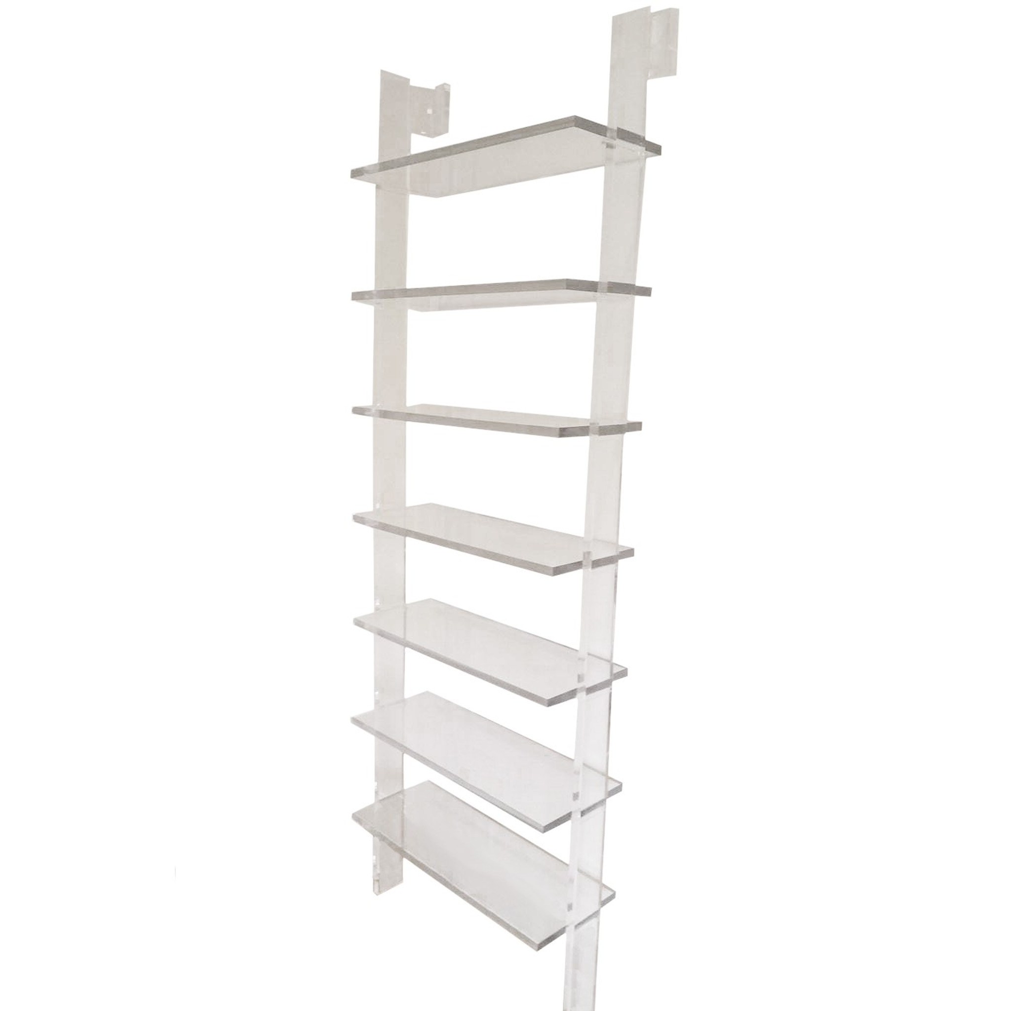 Clear Acrylic Wall Attached Bookcase