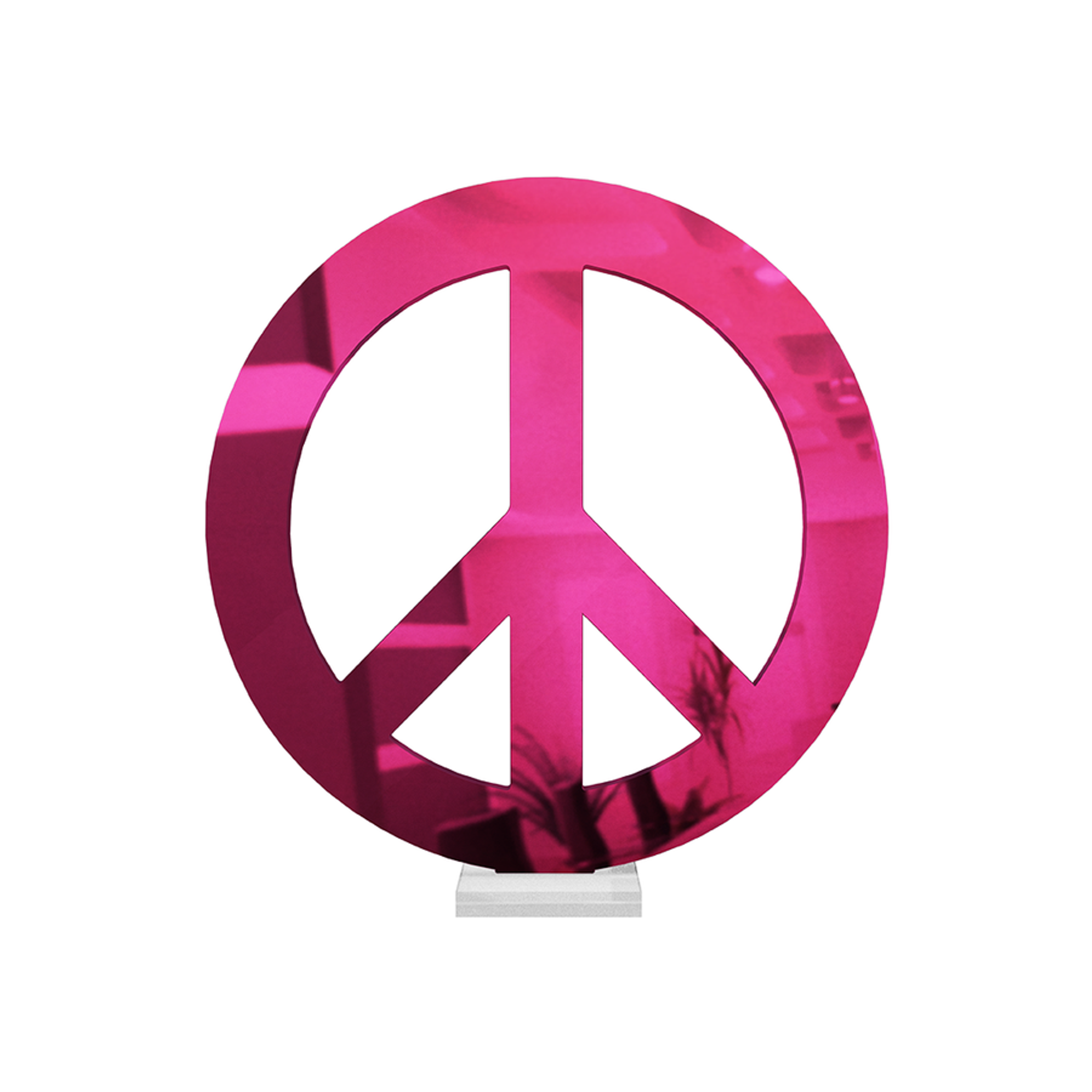Mirrored Acrylic Peace Sign Tabletop Art