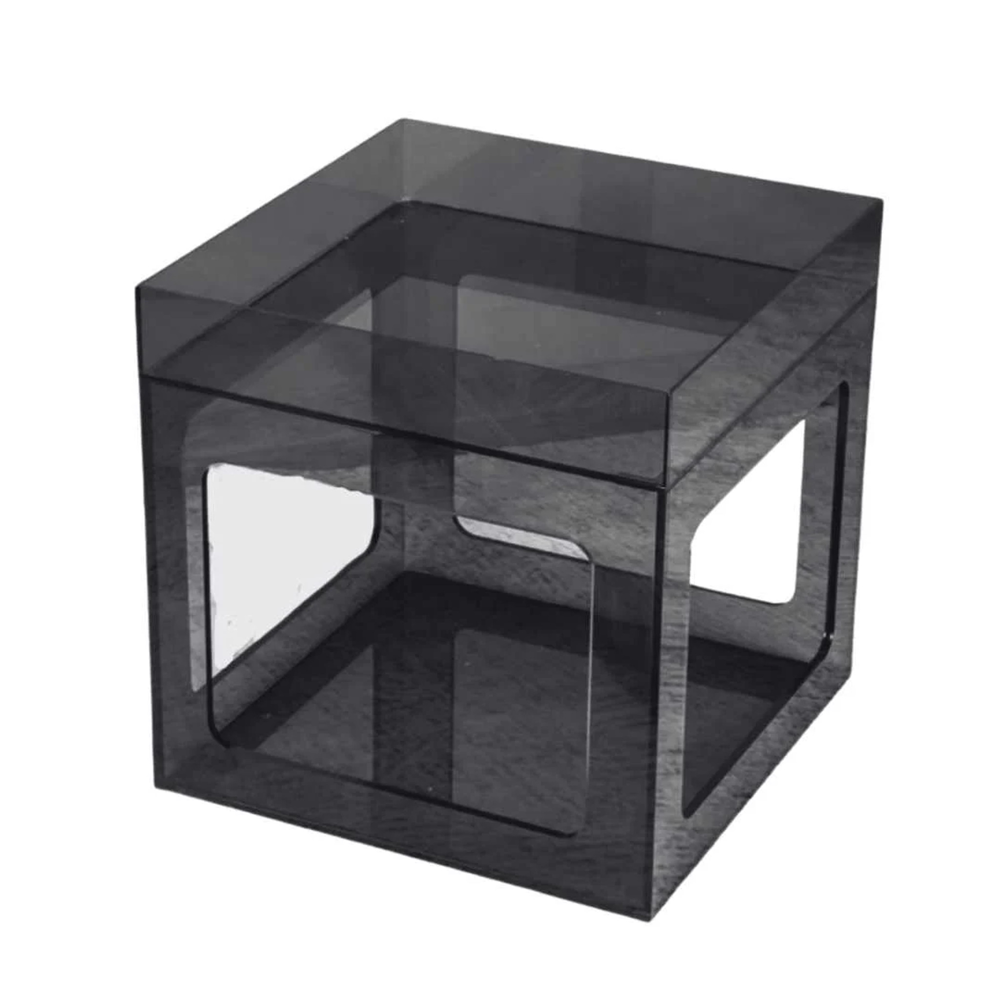 Colors Lucite Cube Table, with Tray Top