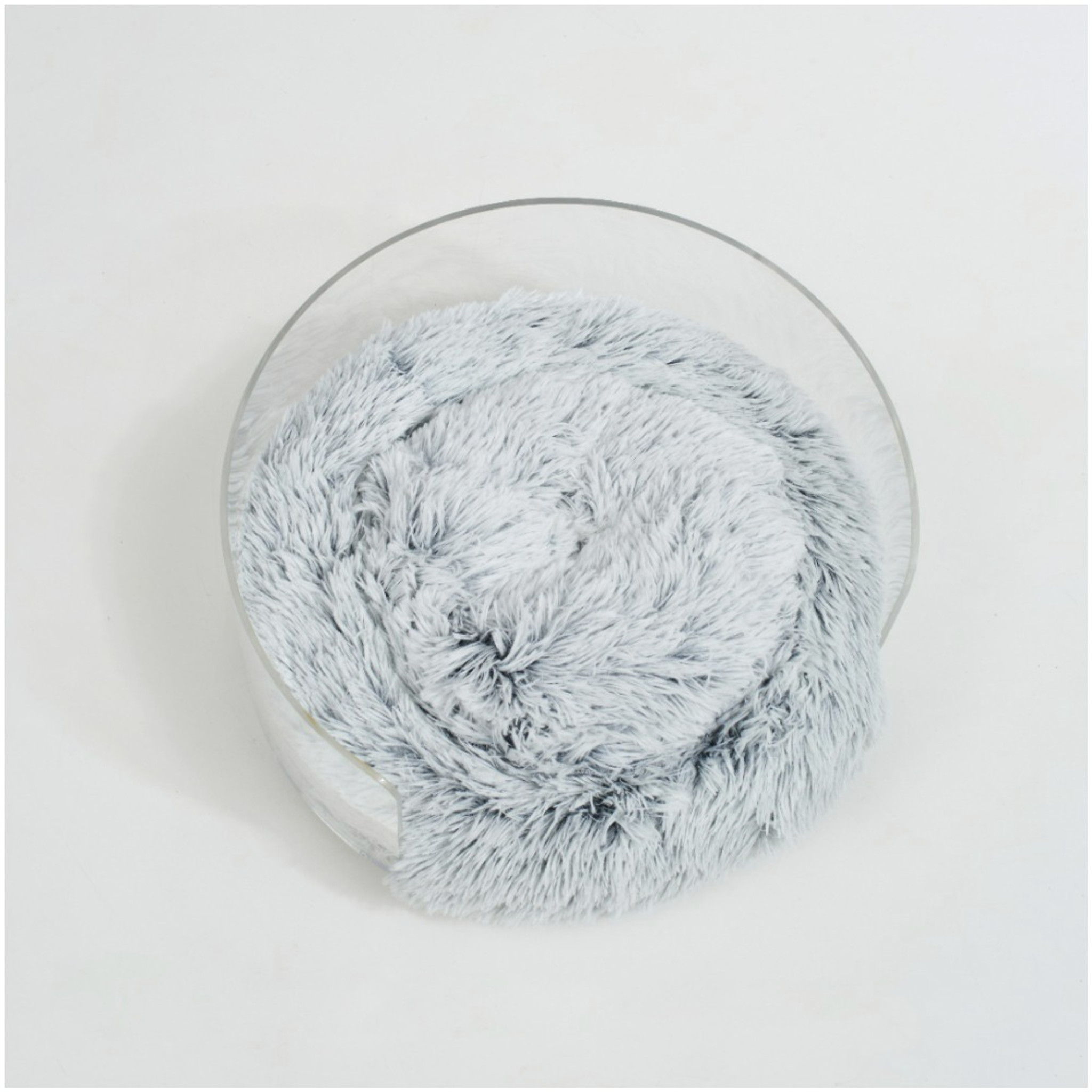 Round Clear Acrylic Dog Bed by Hiddin