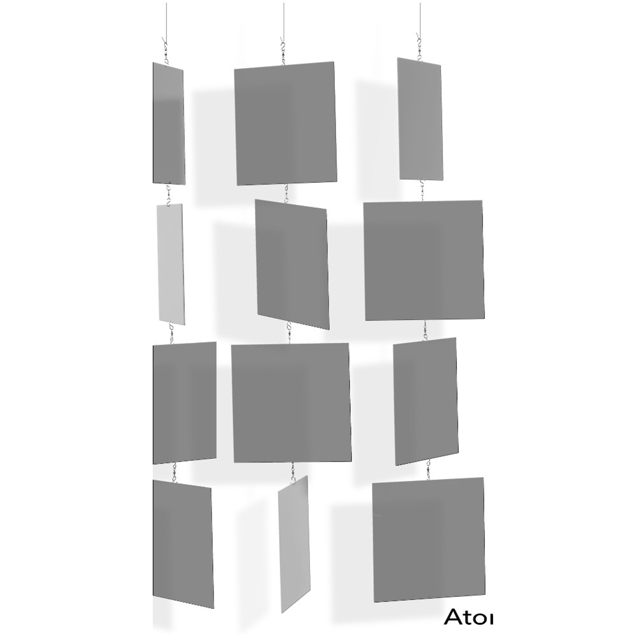 Transparent Lucite Color Hanging Squares on Chain
