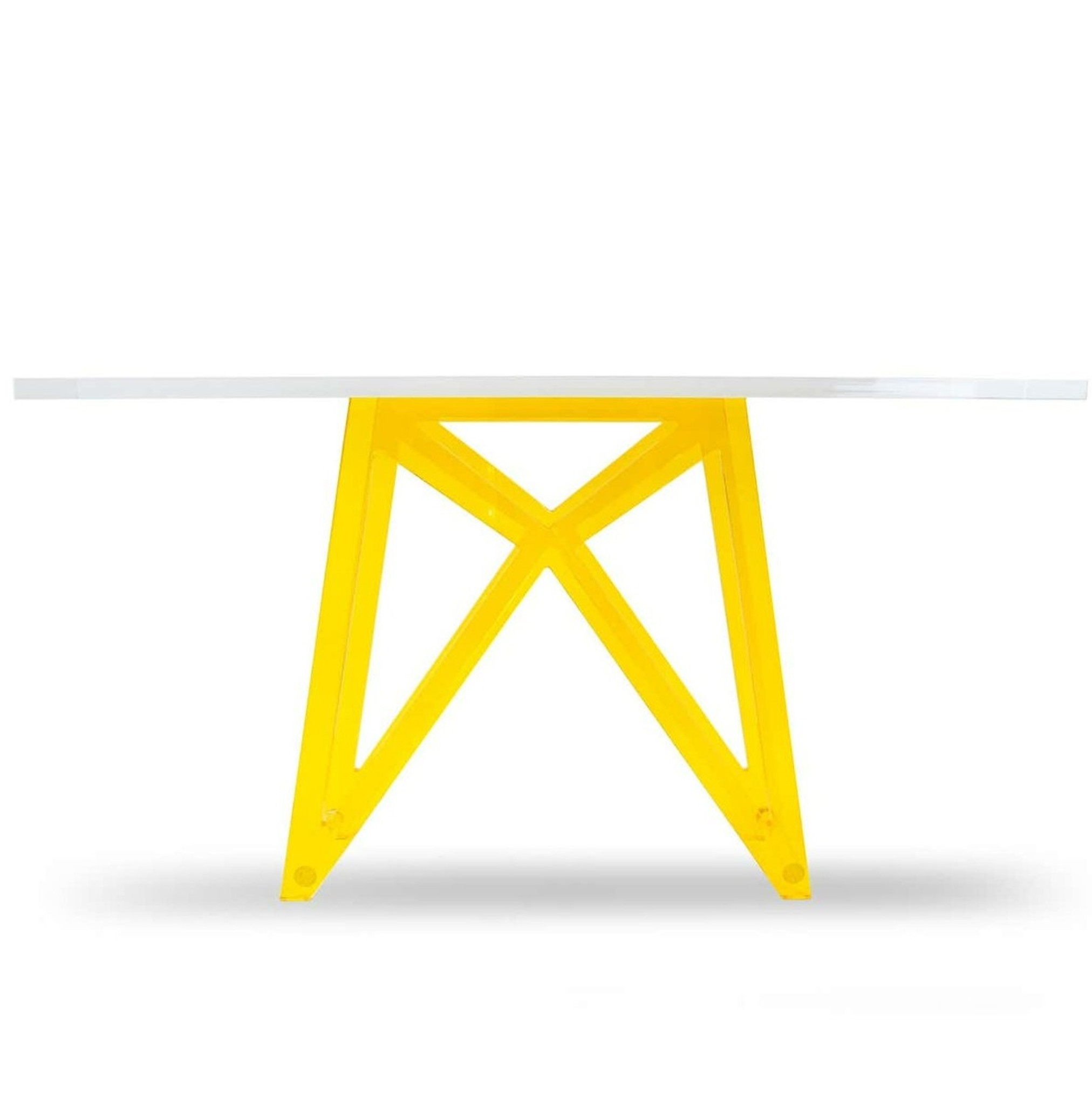 color lucite acrylic modern x base bright neon console table