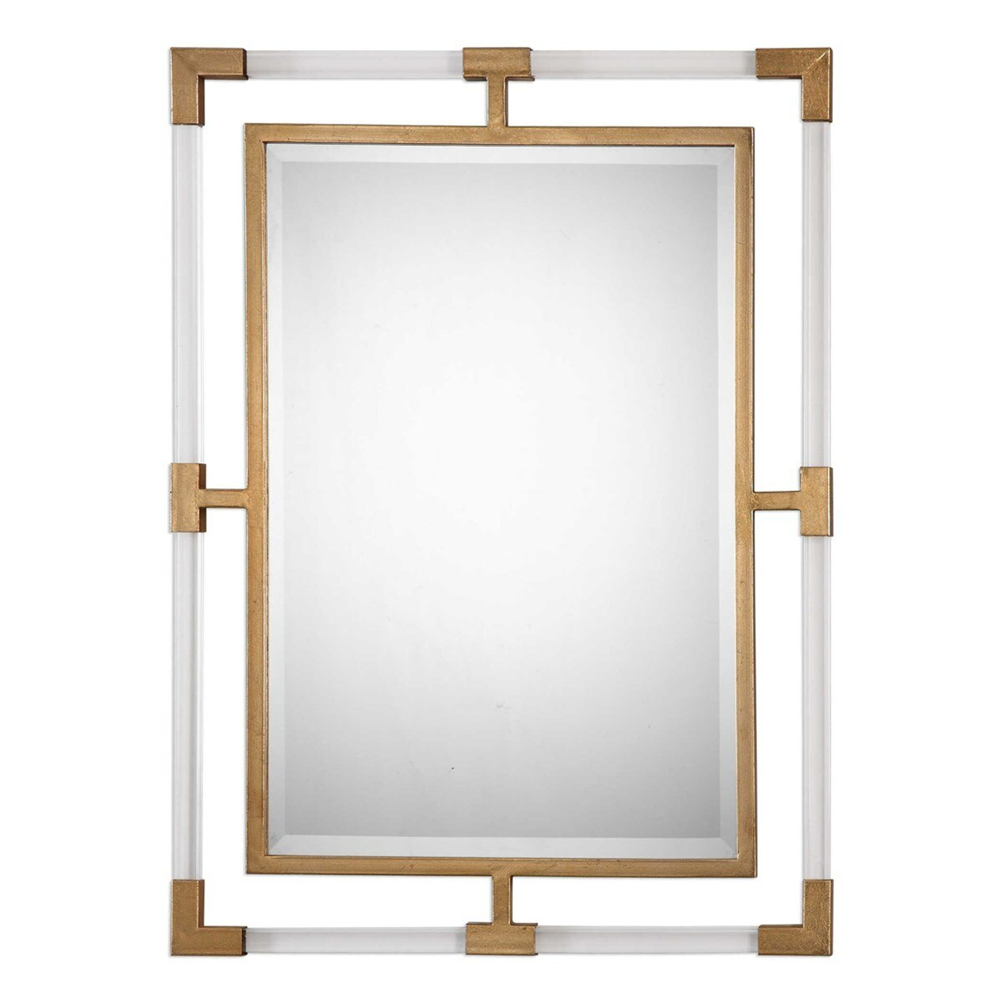 vintage lucite mirror lucite clear acrylic frame floating wall mirror uttermost balkan