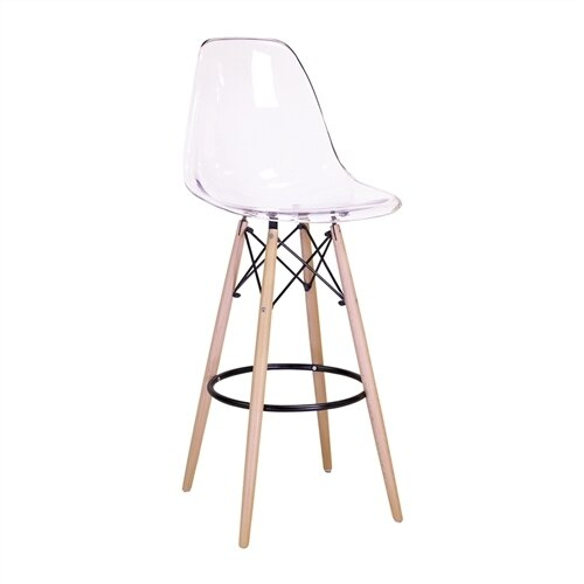 clear lucite eames bar stool replica eames mid century modern lucite khazana