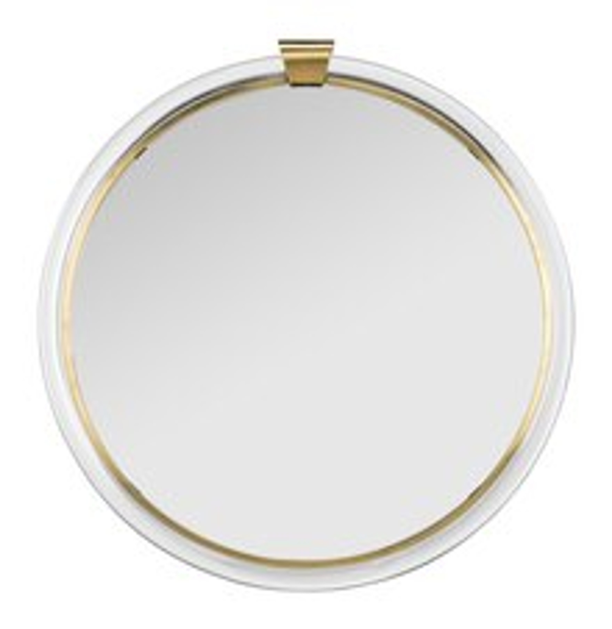 Acrylic And Brass Round Mirror Clear Home Design