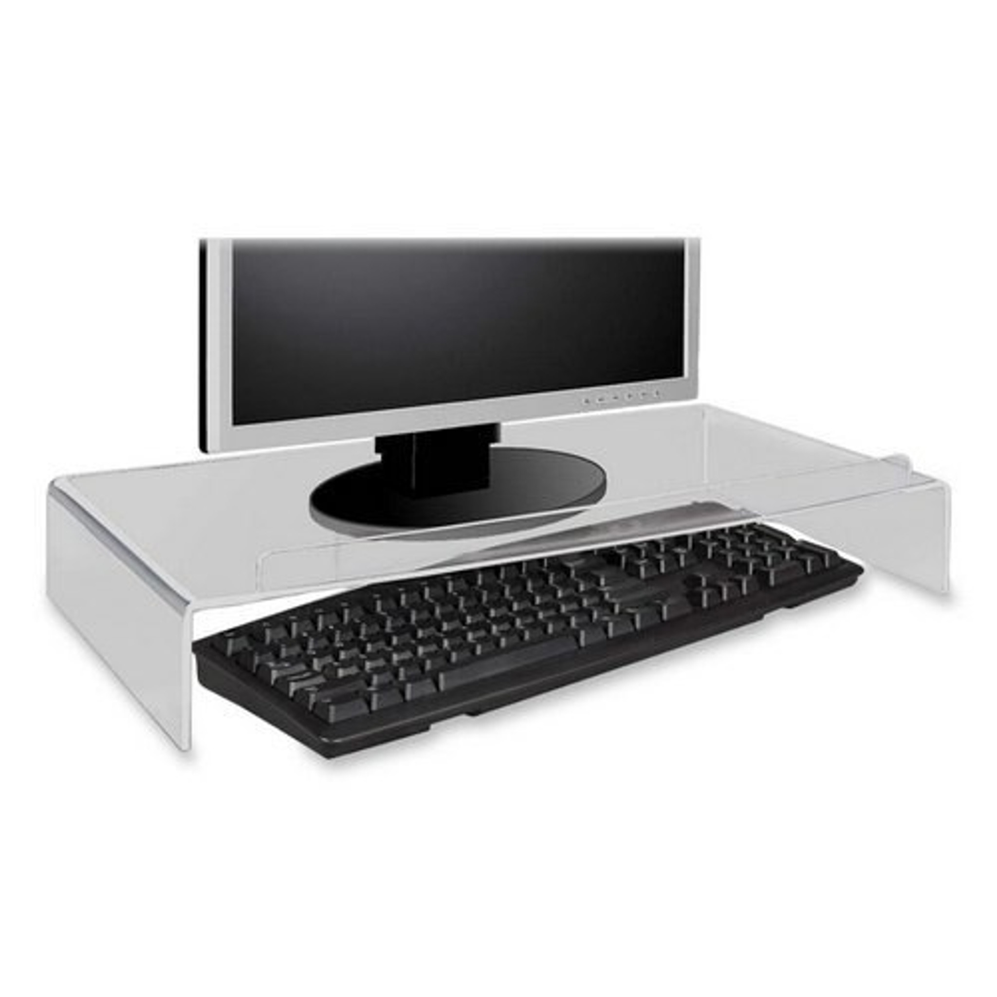 clear acrylic computer monitor stand riser desktop accessory