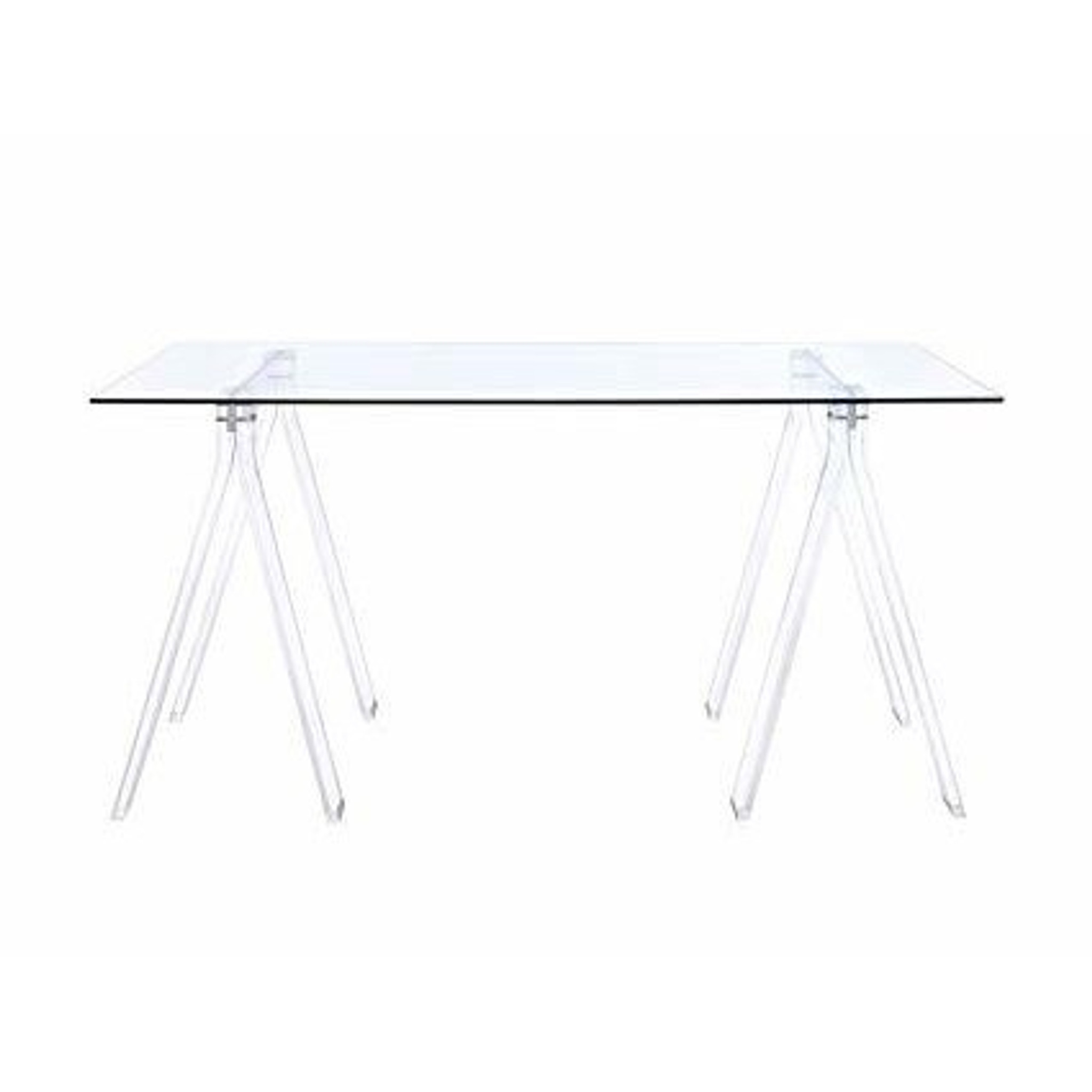 acrylic writing desk with glass top and clear lucite acrylic sawhorse legs cheap teen desk