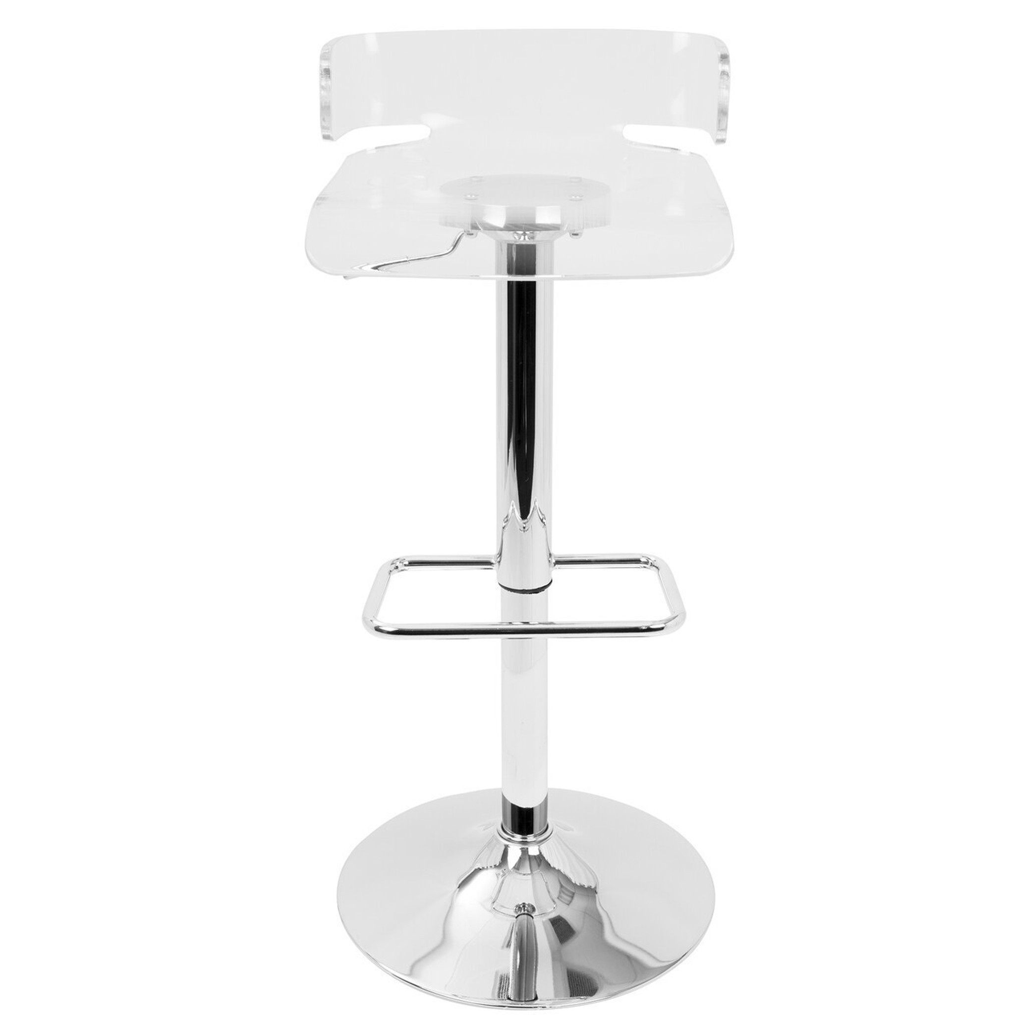 clear lucite low back acrylic counterstools with adjustable height and swivel lumisource pride
