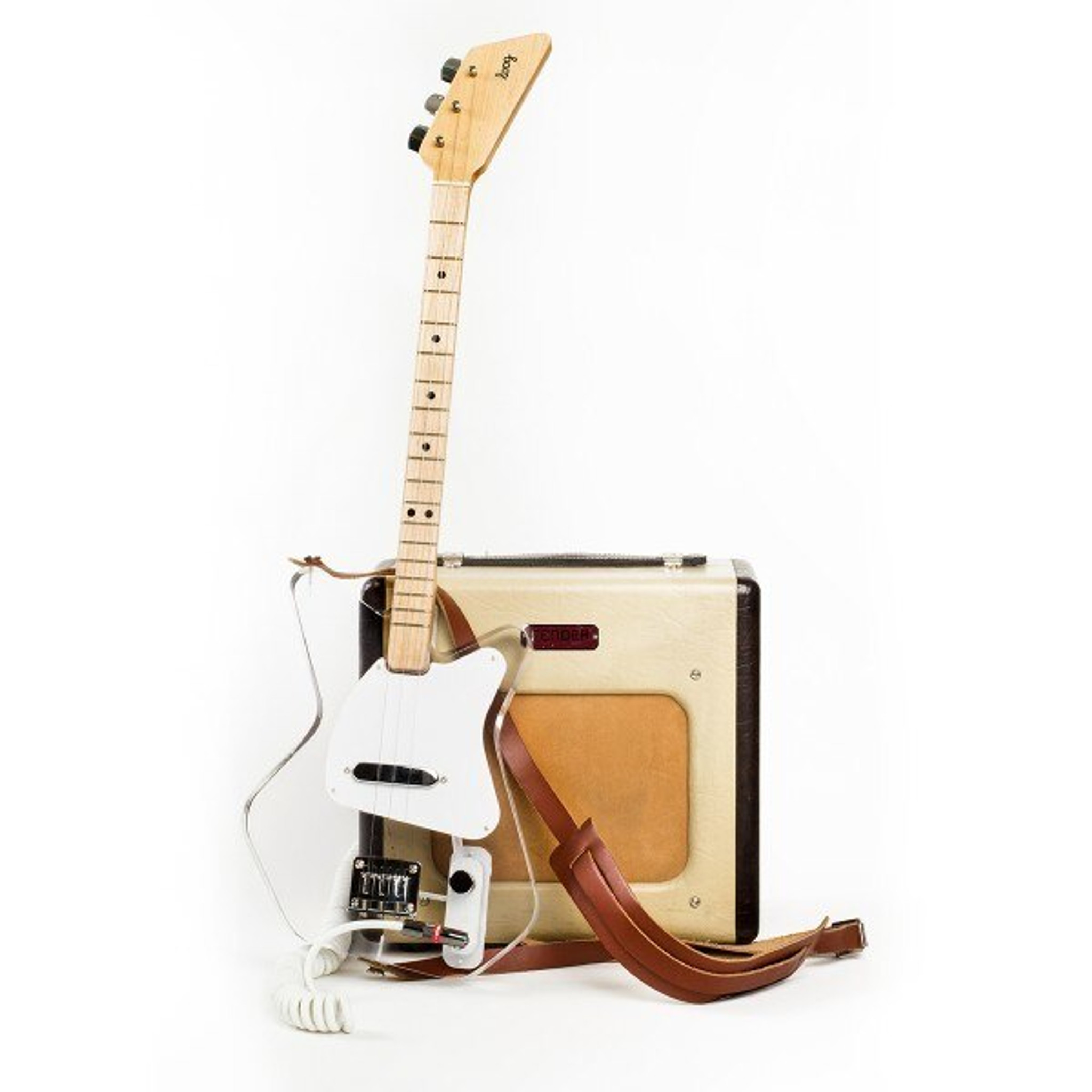 clear acrylic guitar loog pro electric cool teen instrument accessory