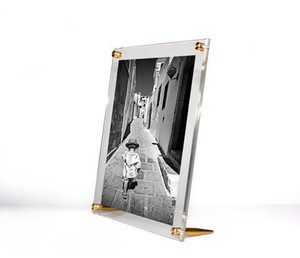 wexel acrylic floating table top leaner modern picture frame gold