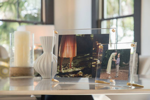 wexel leaning tabletop gold picture frame acrylic modern