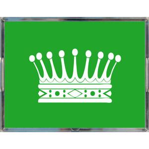 crown theme princess modern trendy green acrylic tray handles