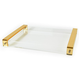 extra large acrylic serving tray with handles cheap wholesale