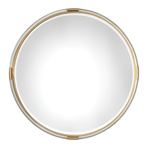 "uttermost mackai gold and acrylic mirror round circular large 36"" decorative wall statement mirror"