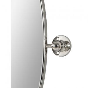 renwil azalea oval nickel metal pivot swivel bathroom vanity mirror