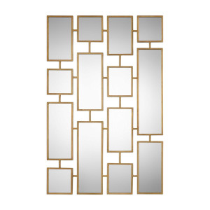 uttermost Kennon Mirror rectangles large wall mirror geometric squares large tall