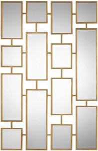 uttermost kennon multiple rectangles tall large wall mirror gold