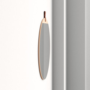 Heppner Wall Mirror cooper classics frameless round leather strap top