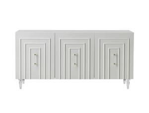 white credenza office sideboard server Tov Furniture Famke White Lacquer Buffet TOV-D5518