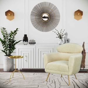 Tov Furniture Famke White Lacquer Buffet TOV-D5518 acrylic legs