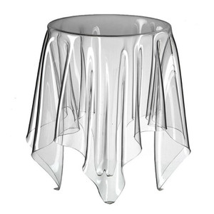 clear acrylic ghost table in top essey illusion side end accent table
