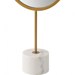 tall modern oval dressing area floor length standing mirror with marble base