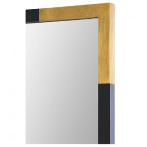 rectangle wall mirror renwil Osmond black and gold metal accents sleek modern cb2 west elm bathroom mirror
