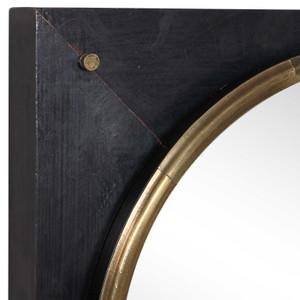 uttermost tobiah black square wall decorative wall mirror gold circle